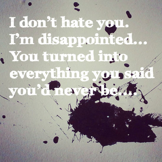 Zitate über Disappointment - Enttäuschung
